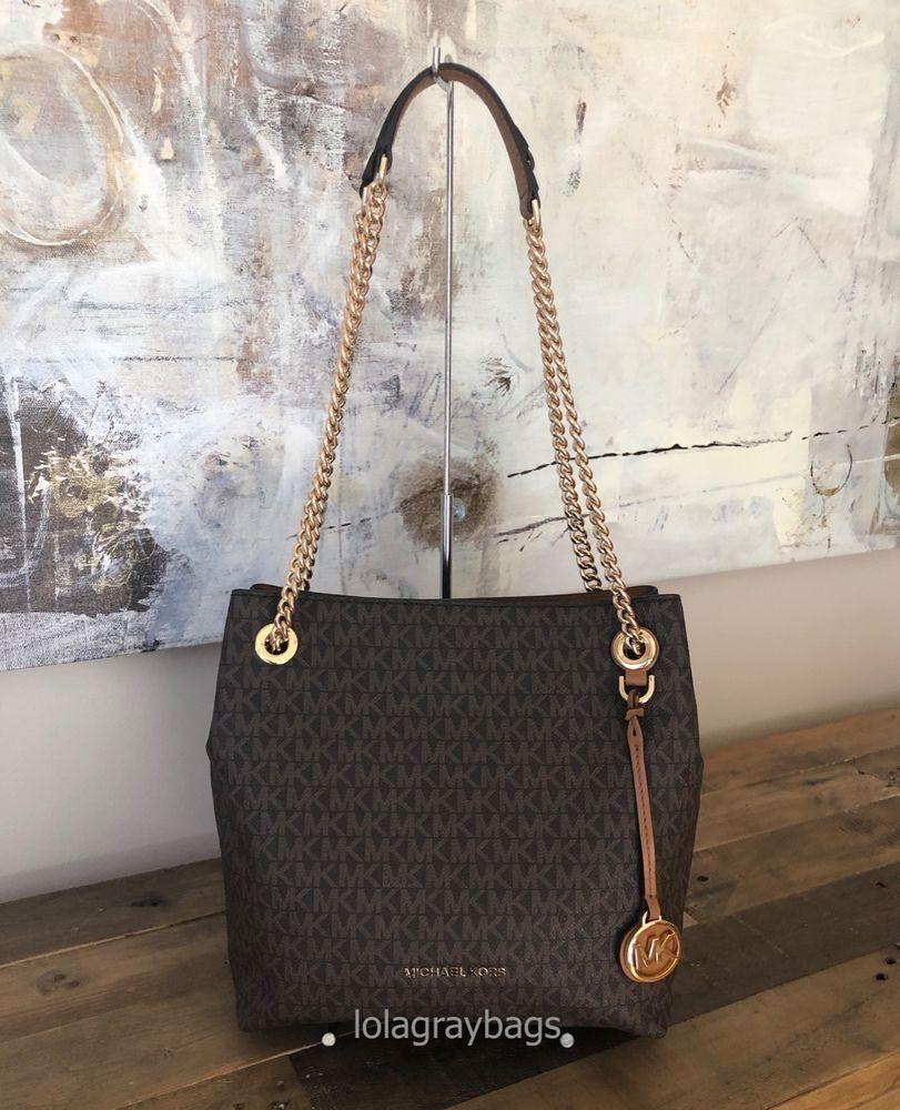 bf96f24853e Michael Kors Jet Set Chain Medium Shoulder Tote/Brown Acorn #fashion  #clothing #shoes #accessories #womensbagshandbags ...
