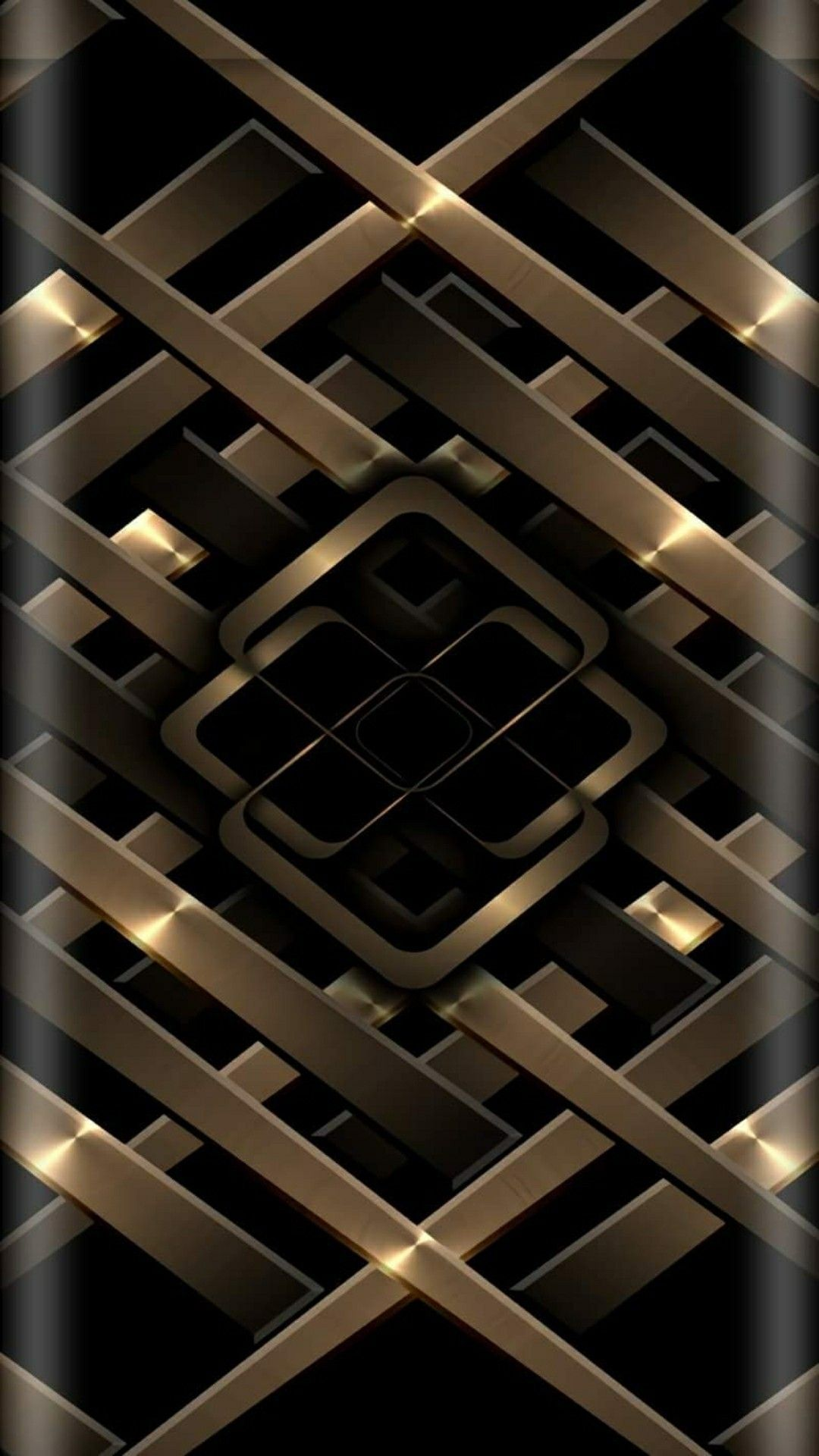 メタルゴールド ブラック 壁紙 Android 携帯電話の壁紙 スマホ壁紙