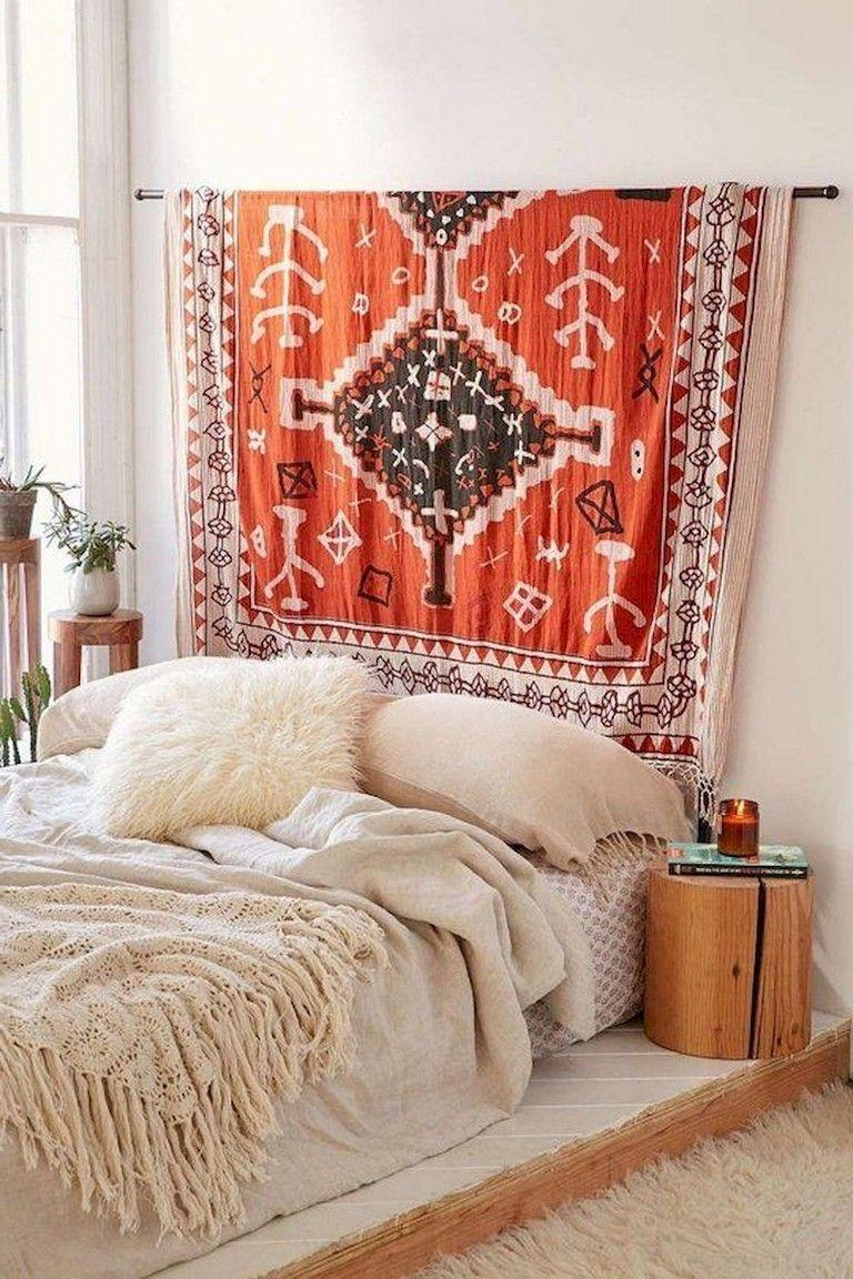 49+ Top Apartment Bedroom Decor Ideas Boho Style | Small ... on Boho Bedroom Ideas On A Budget  id=94110