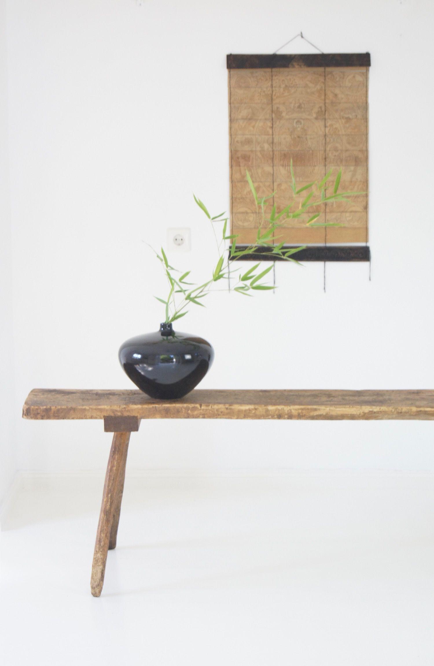 Holzbank antik, rustikal by boheme-living.com | Garten Bänke ...