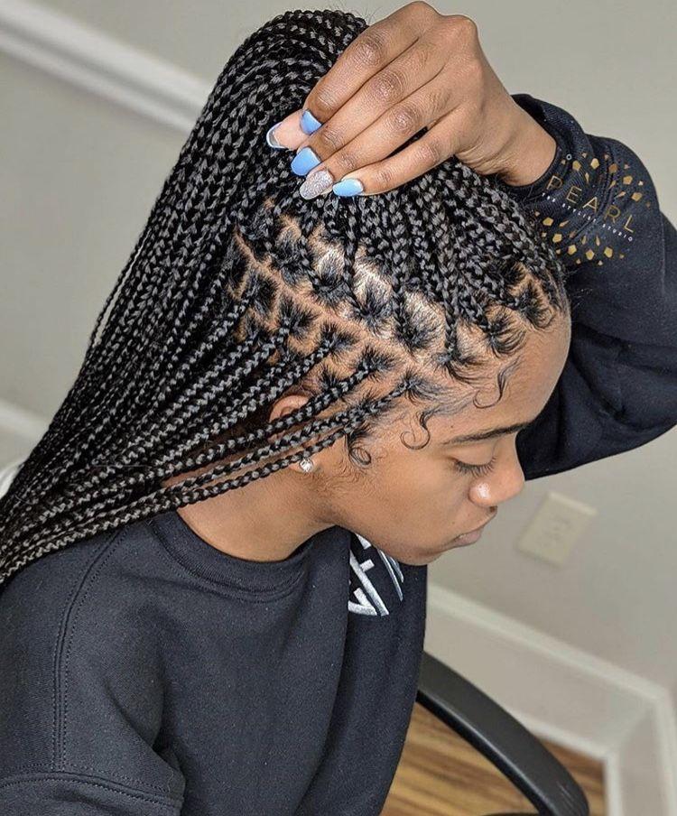 Here S Why You Should Get Knotless Box Braids Instead Of Box Braids Twist Braid Hairstyles African Hair Braiding Styles Hair Braid Videos