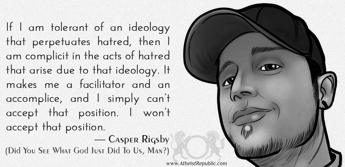 Don't be an accomplice to hate.