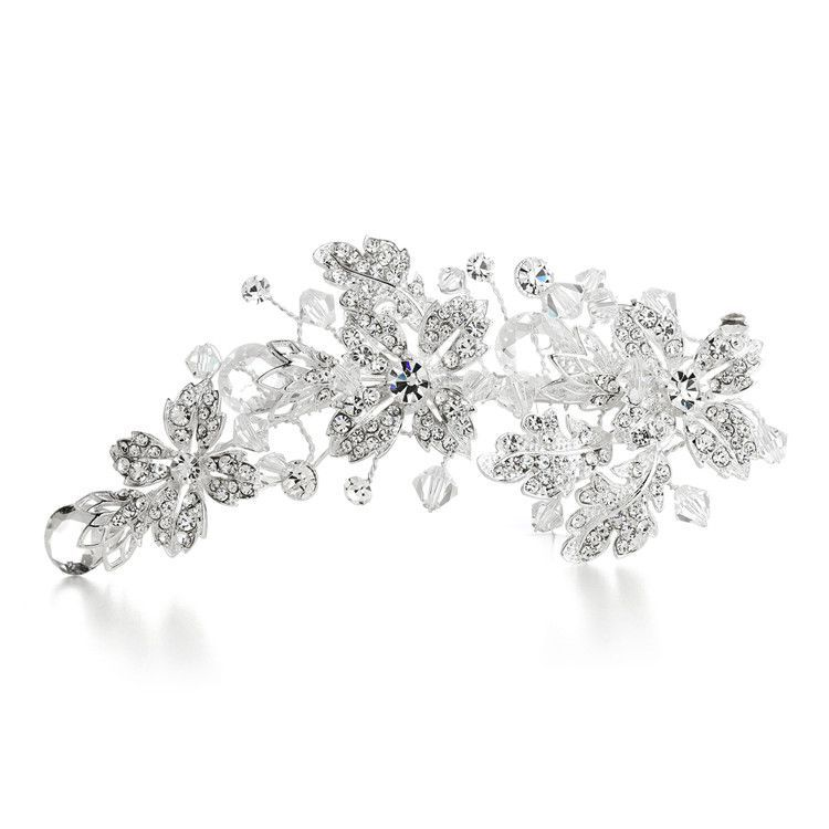 209154414 Crystal Spray Bridal Hair Clip with Faceted Teardrops | Products ...