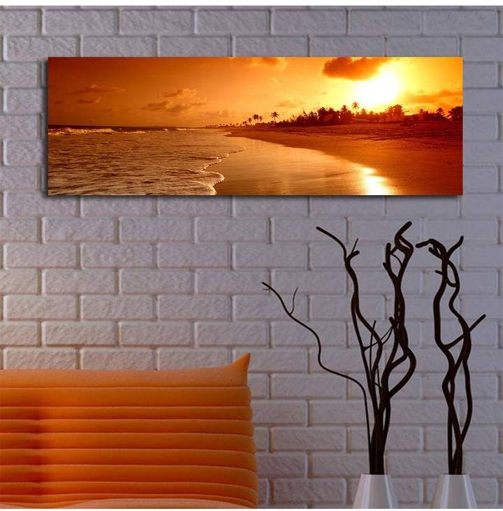 WALLITY Beach Sunset LED Accented Wall Art #adding#perfect