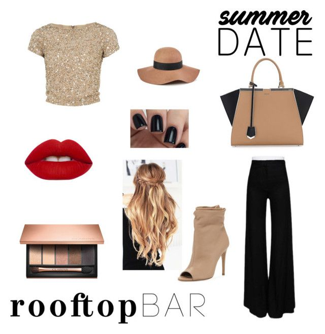 """""""I really like this one!!"""" by lexandsamwattpad ❤ liked on Polyvore featuring Alice + Olivia, Ann Demeulemeester, Burberry, Fendi, Reiss, Lime Crime, Clarins, summerdate and rooftopbar"""