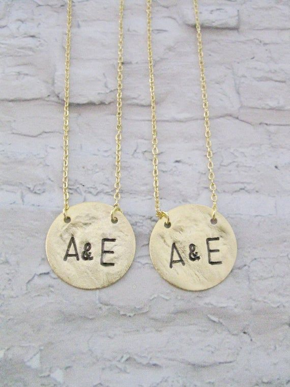 His and Her Jewelry, Personalized Jewelry, Gold Initial ...