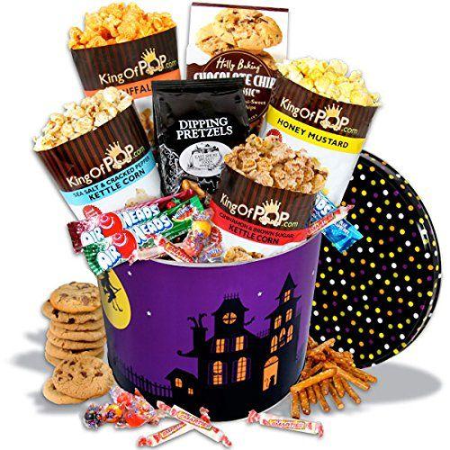 Haunted House Snack Tin - http://mygourmetgifts.com/haunted-house-snack-tin/