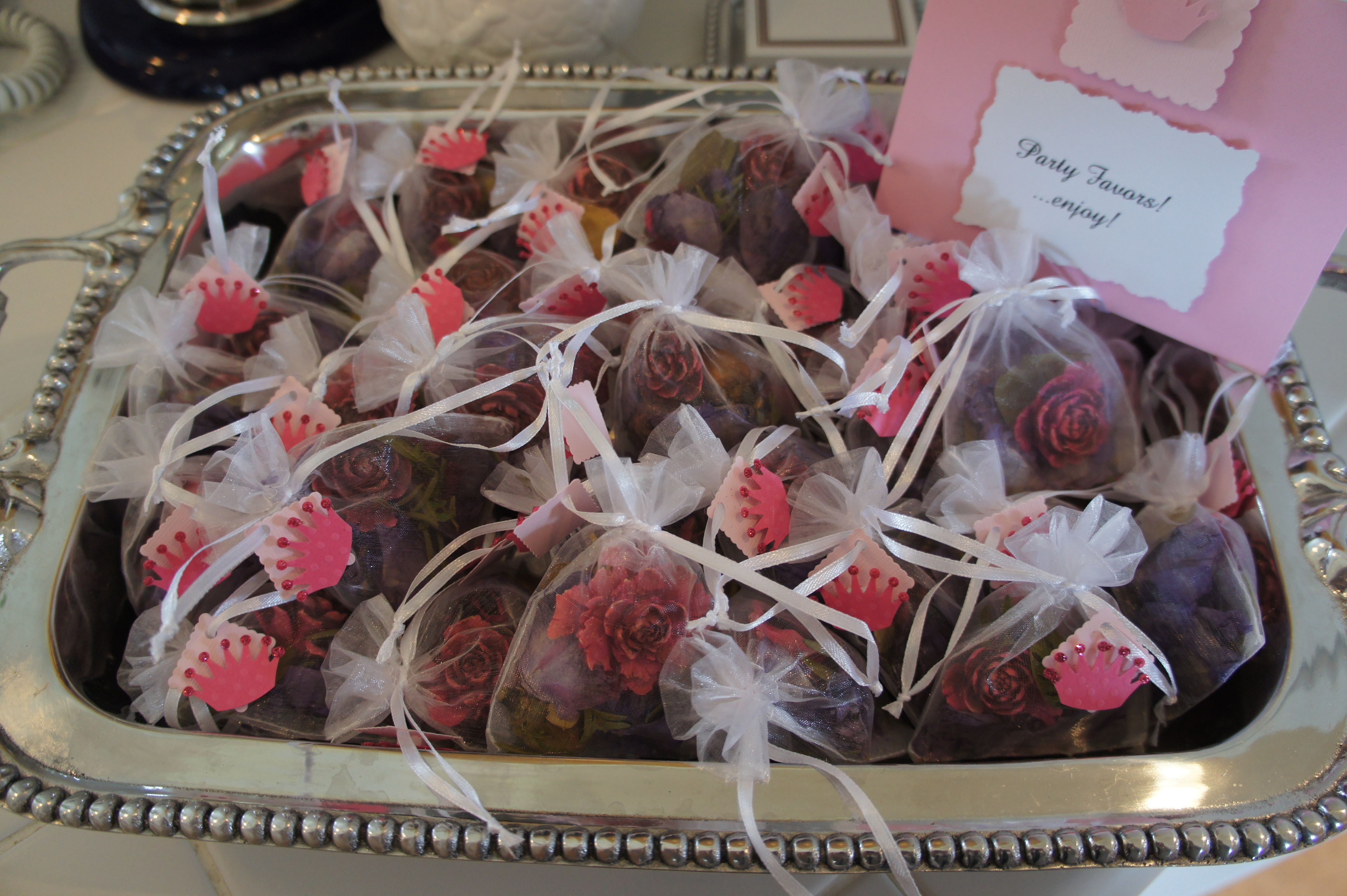 Party Favors Scented Potpourri In Sachet Bagstied With A Ribbon