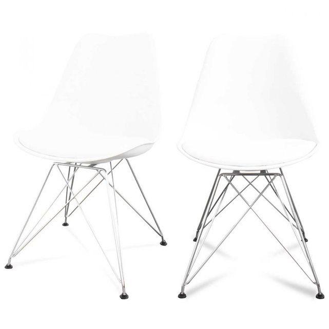 Lot de 2 chaises design Ormond Eiffel DRAWER