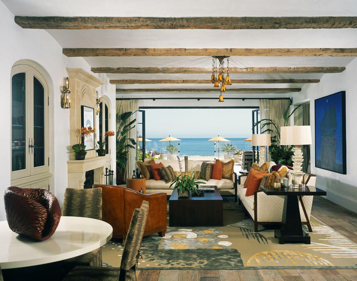 Mediterranean Living Room in Malibu CA by Landry Design Group Inc
