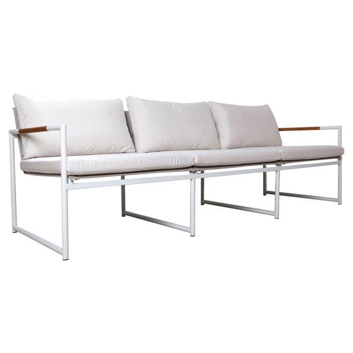 breeze indoor outdoor three seat lounge chair outdoors
