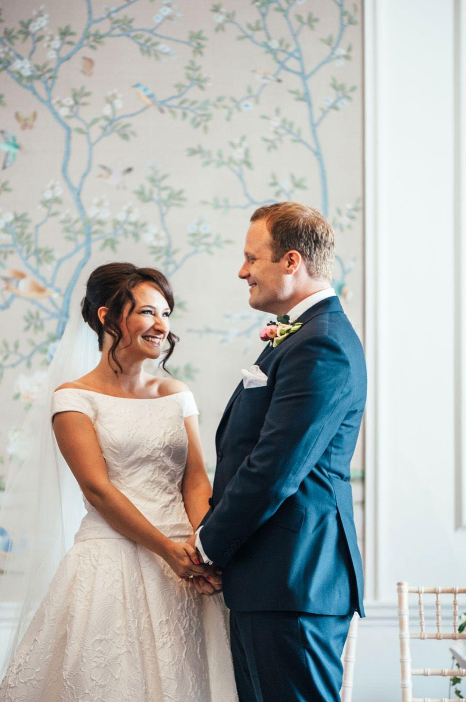 Raimon bundo elegance and maids in pretty pale blue wedding dress
