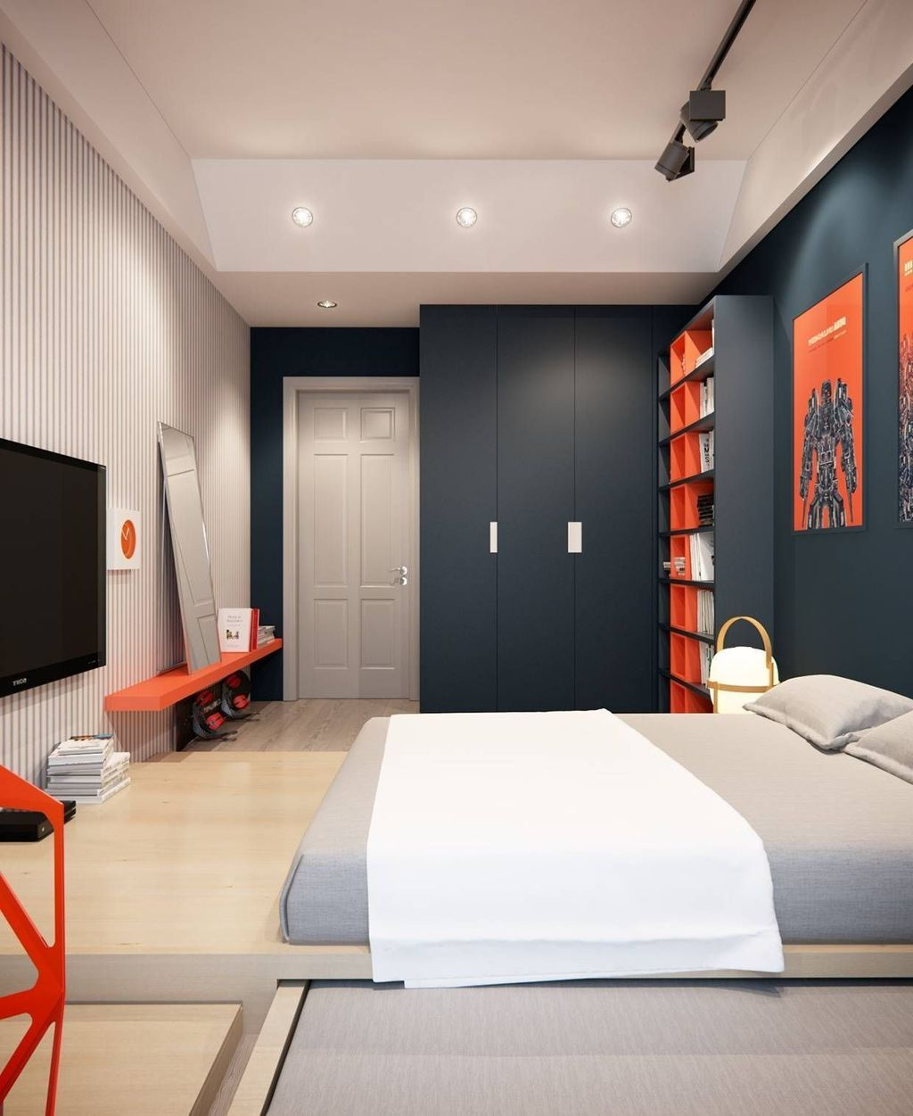 30+ Stunning Bedroom Decoratiion Ideas For Your Boys is part of Boy bedroom design, Modern bedroom design, Closet bedroom, Bedroom closet doors, Teenager bedroom boy, Interior design bedroom - If you are a parent of a teenage boy or have been assigned a job of designing bedroom for a […]