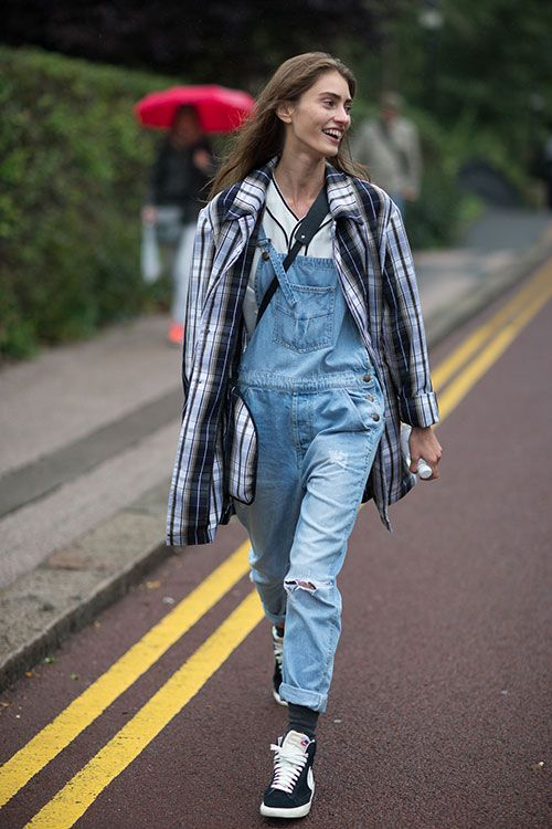 Overalls at London fashion week #CartonMagazine