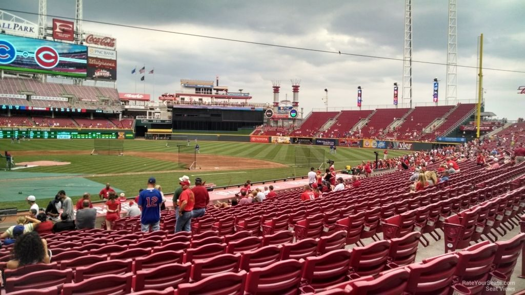 Great American Ballpark Seating Chart Rows Seating Charts The Row Ballparks