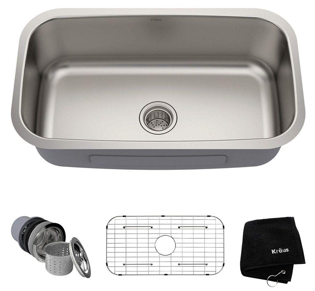 Kraus kbu14 undermount single bowl 16 gauge stainless steel kitchen sink review