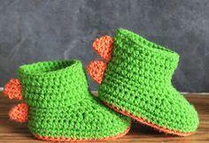 7a32ae937b89e Dinosaur Baby Booties RAWR pattern by Jinty Lyons | Crochet LOVE ...