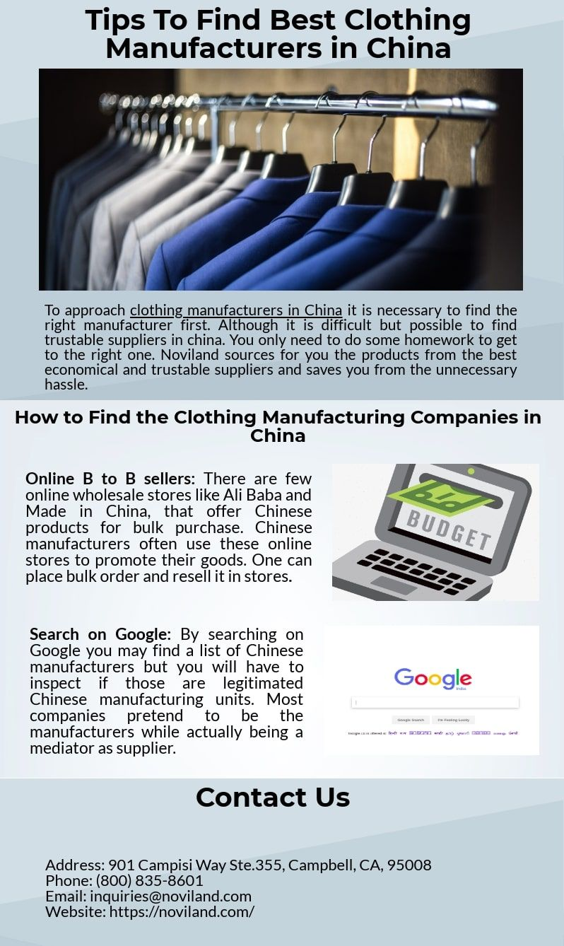Find the tips about how to find the best clothing manufacturers in