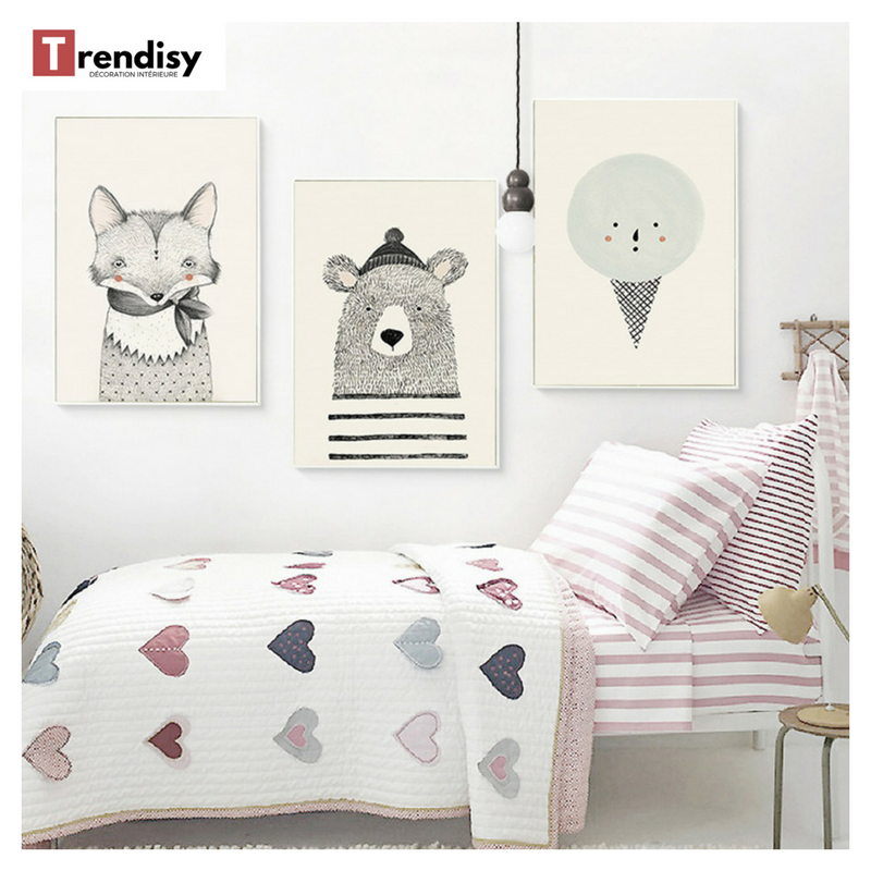 poster toile renard croquis toiles animaux pinterest. Black Bedroom Furniture Sets. Home Design Ideas