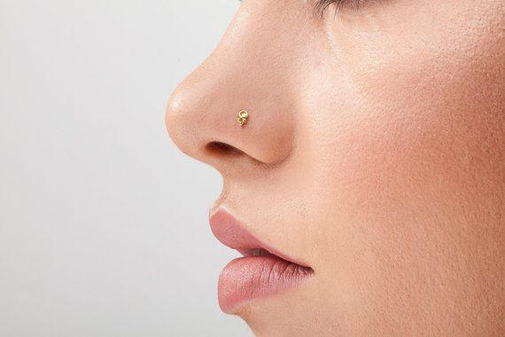 Small Nose Stud Gold Small Gold Nose Stud Dainty Nose Stud Small