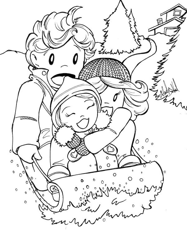 Happy Skating Winter Coloring Page Winter Pinterest Winter - best of printable coloring pages for january