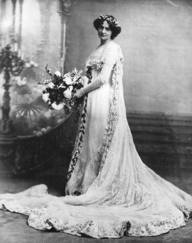vestido de novia 1900