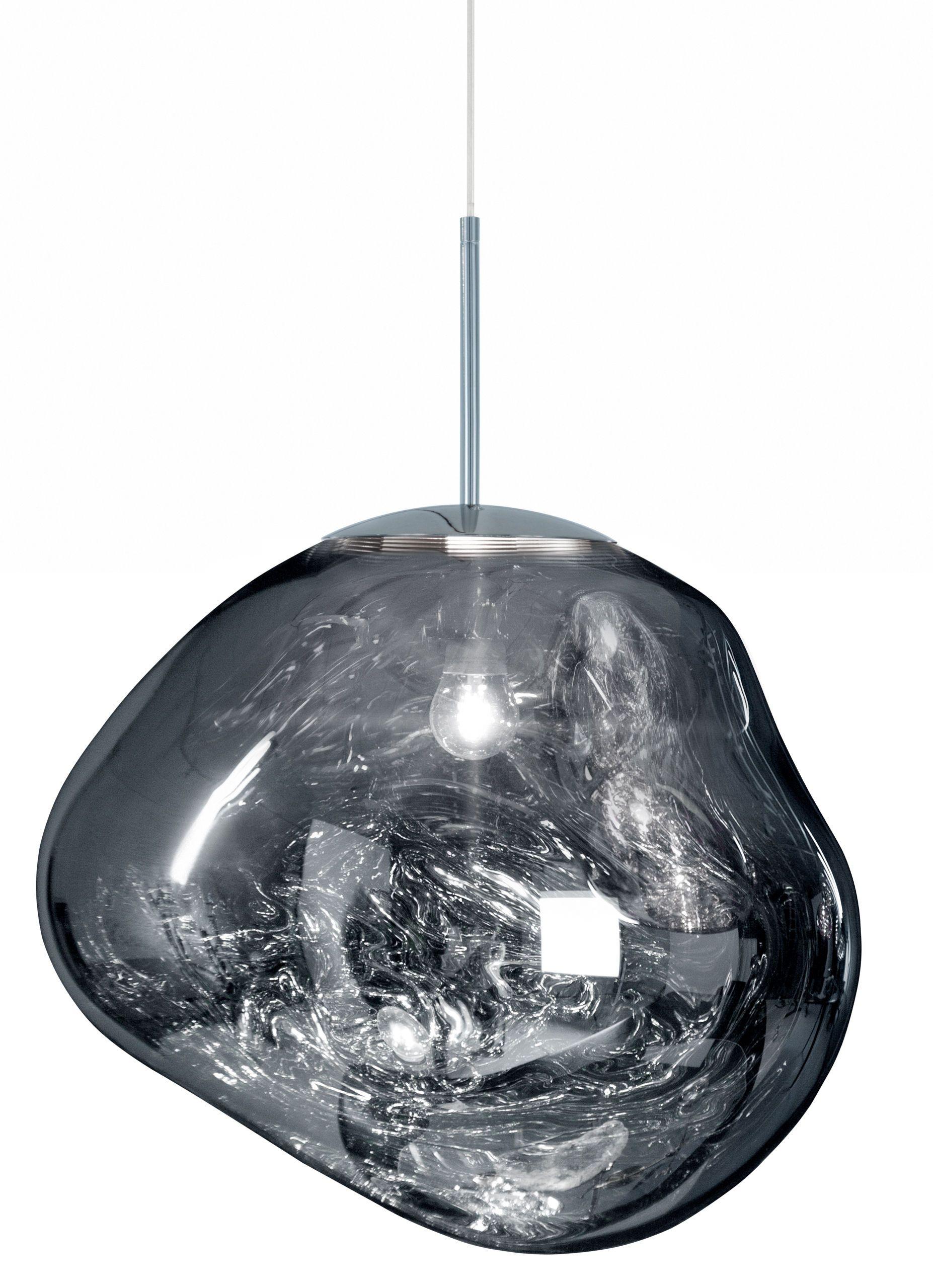 Suspension Melt Tom Dixon Argent Metal Made In Design Luminaire Plafond Tom Dixon Lampe Suspendue