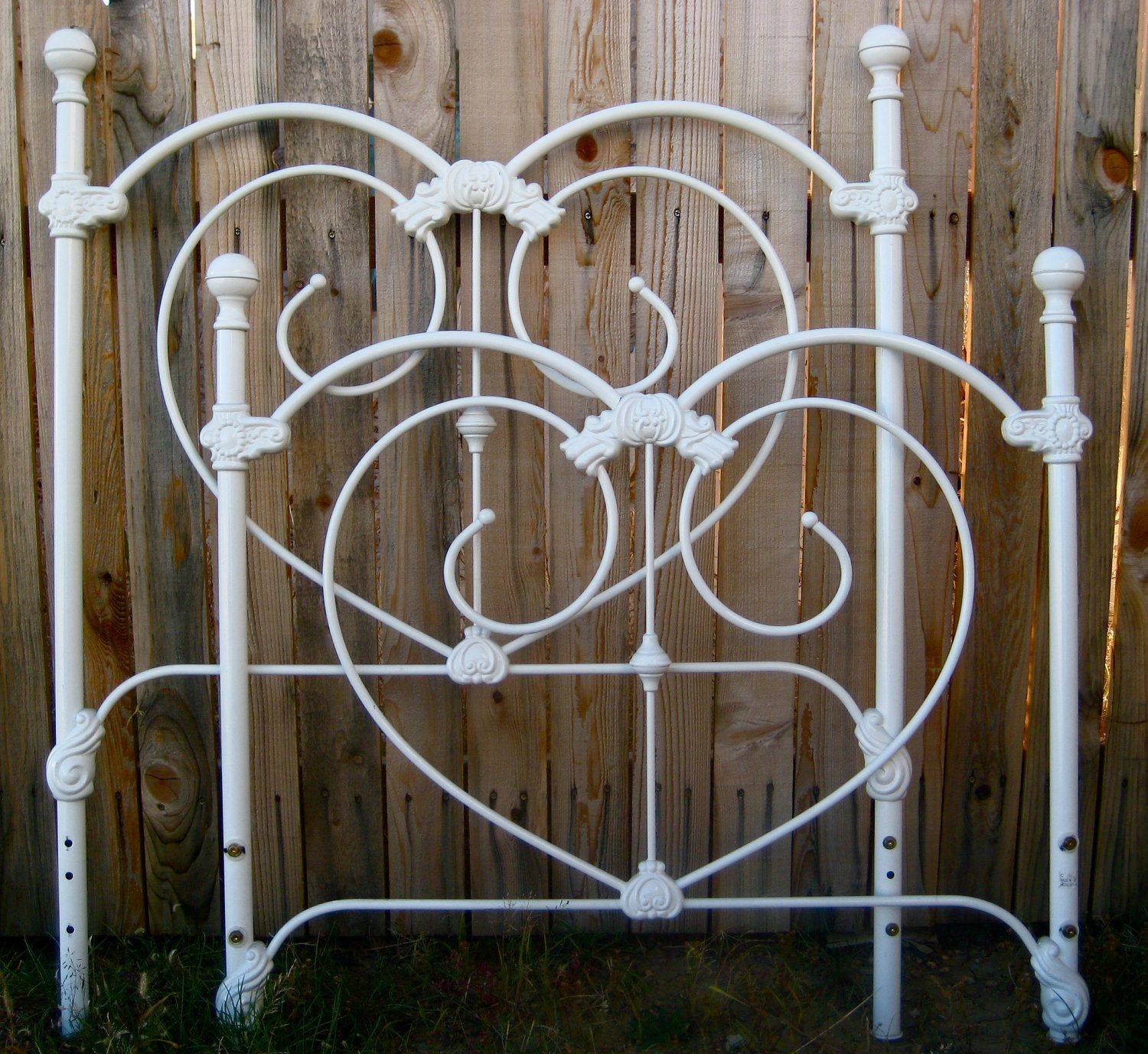 Twin bed frame vintage custom paint