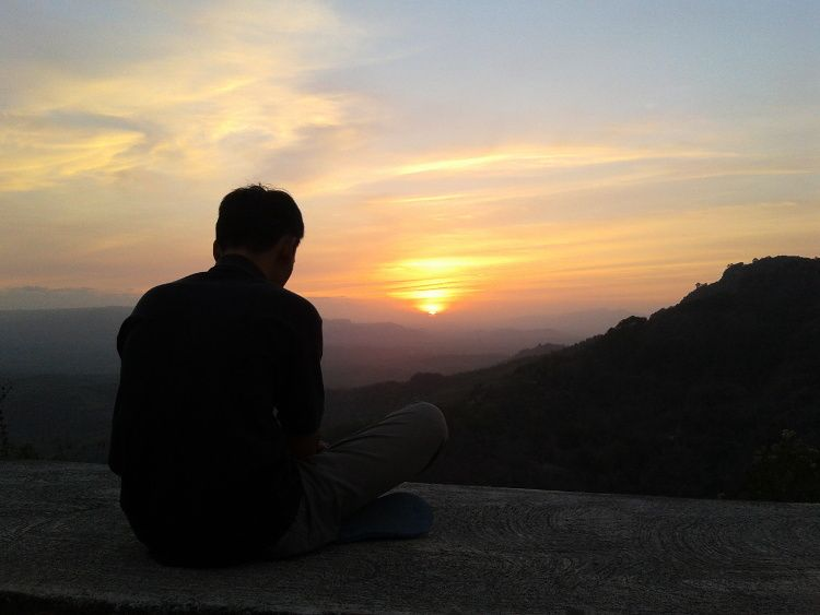 Senja Di Bukit Gantole Wonogiri Jawa Tengah Wonderfulindonesia Pemandangan Tempat Pantai
