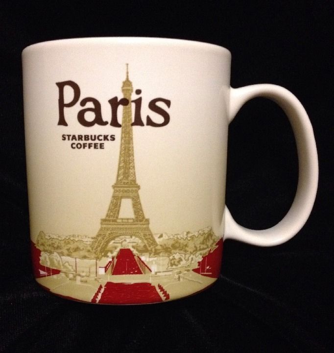 Starbucks Paris Icon Mug France Louvre Eiffel Tower Notre Dame Seine New US Ship #Starbucks