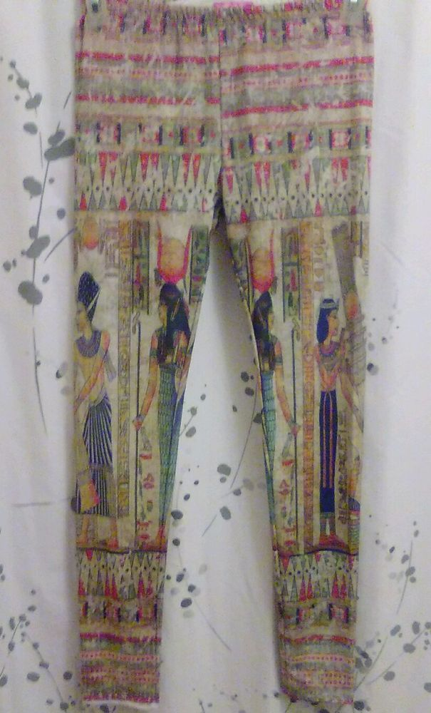 Egyptian aztec leggings size large in Clothing, Shoes & Accessories, Women's Clothing, Leggings | eBay