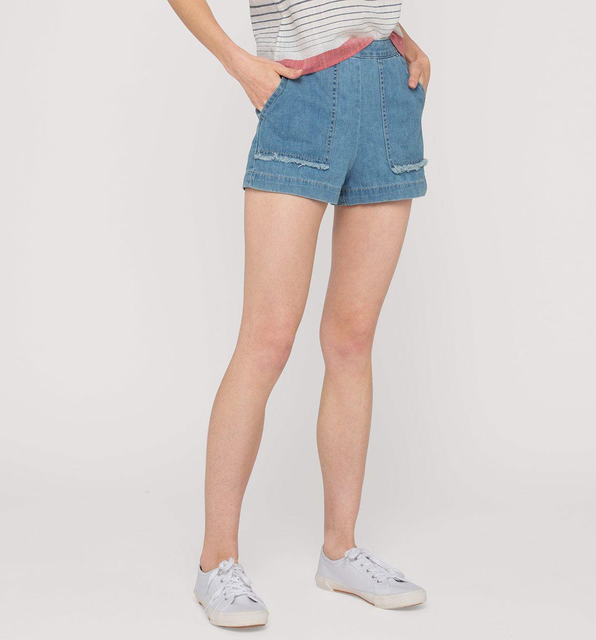 Szorty Dzinsowe Z Fredzlami Z Dzialu Clockhouse Kolor Dzins Jasnoniebieski Niskie Ceny W Sklepie C A On Line Womens Shorts Fashion Denim Shorts