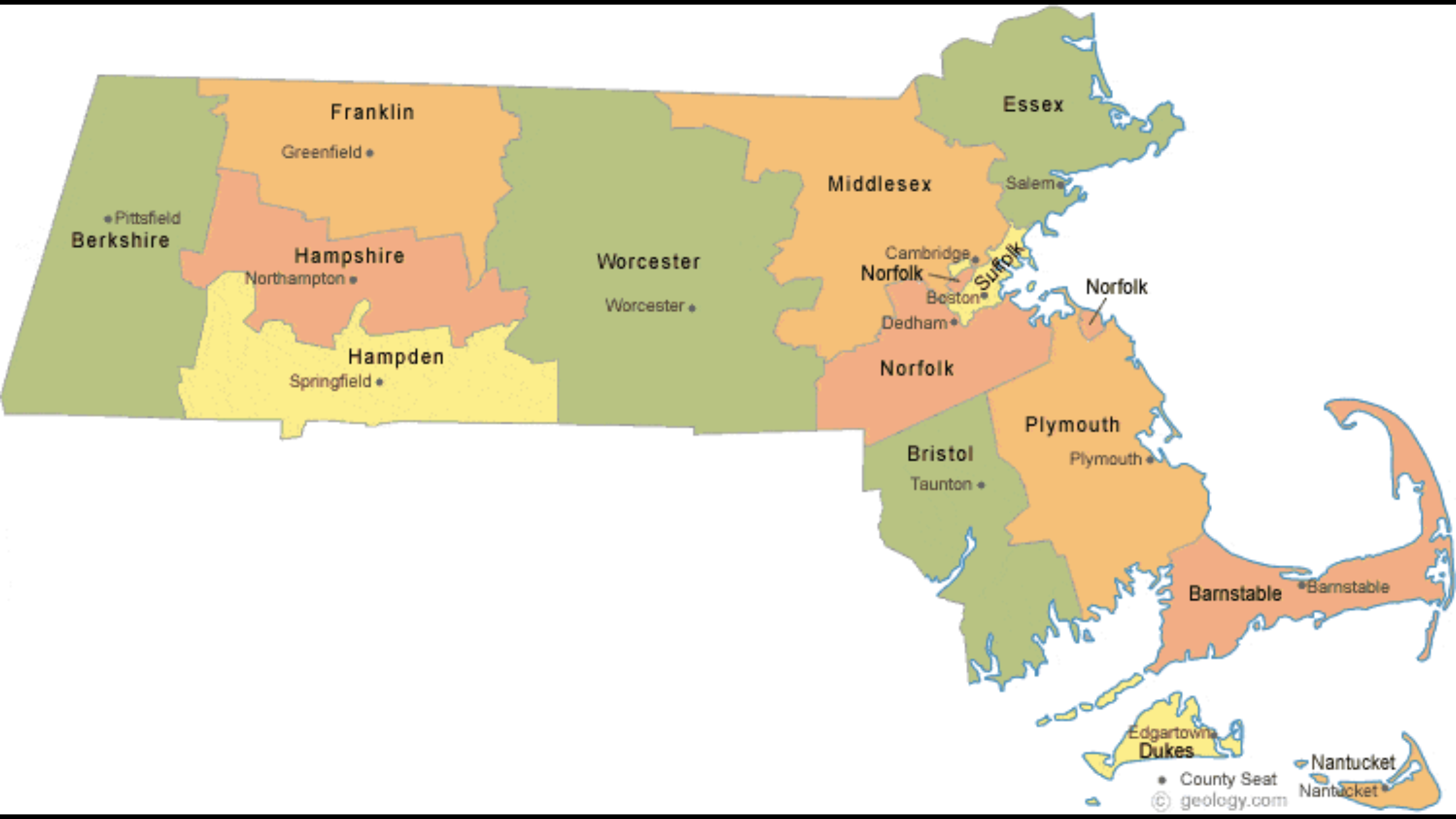 Machusetts | COUNTIES IN STATE in 2019 | County map, Map ... on
