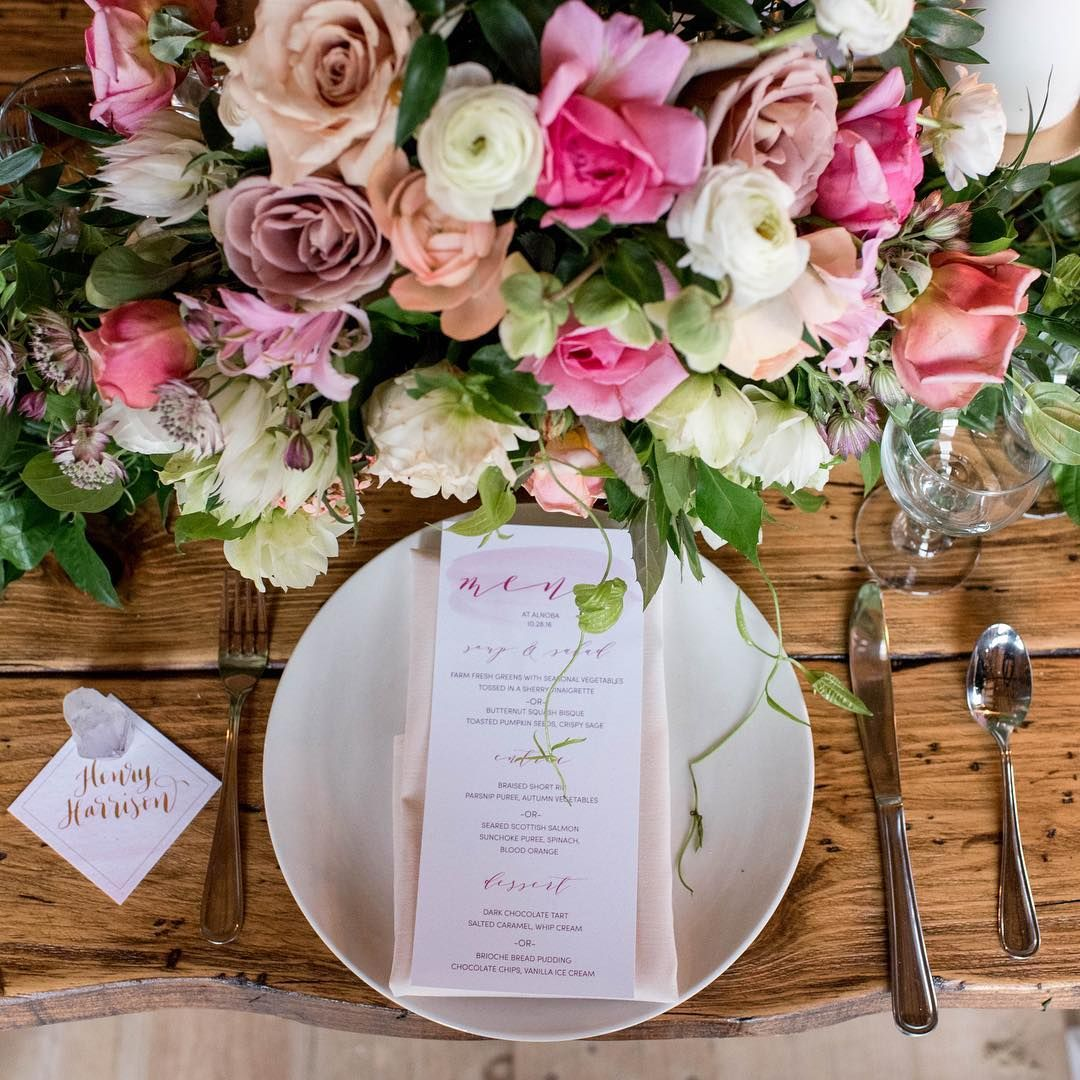 Menu And Place Card By Simply B Boho Wedding Barn Wedding Boho