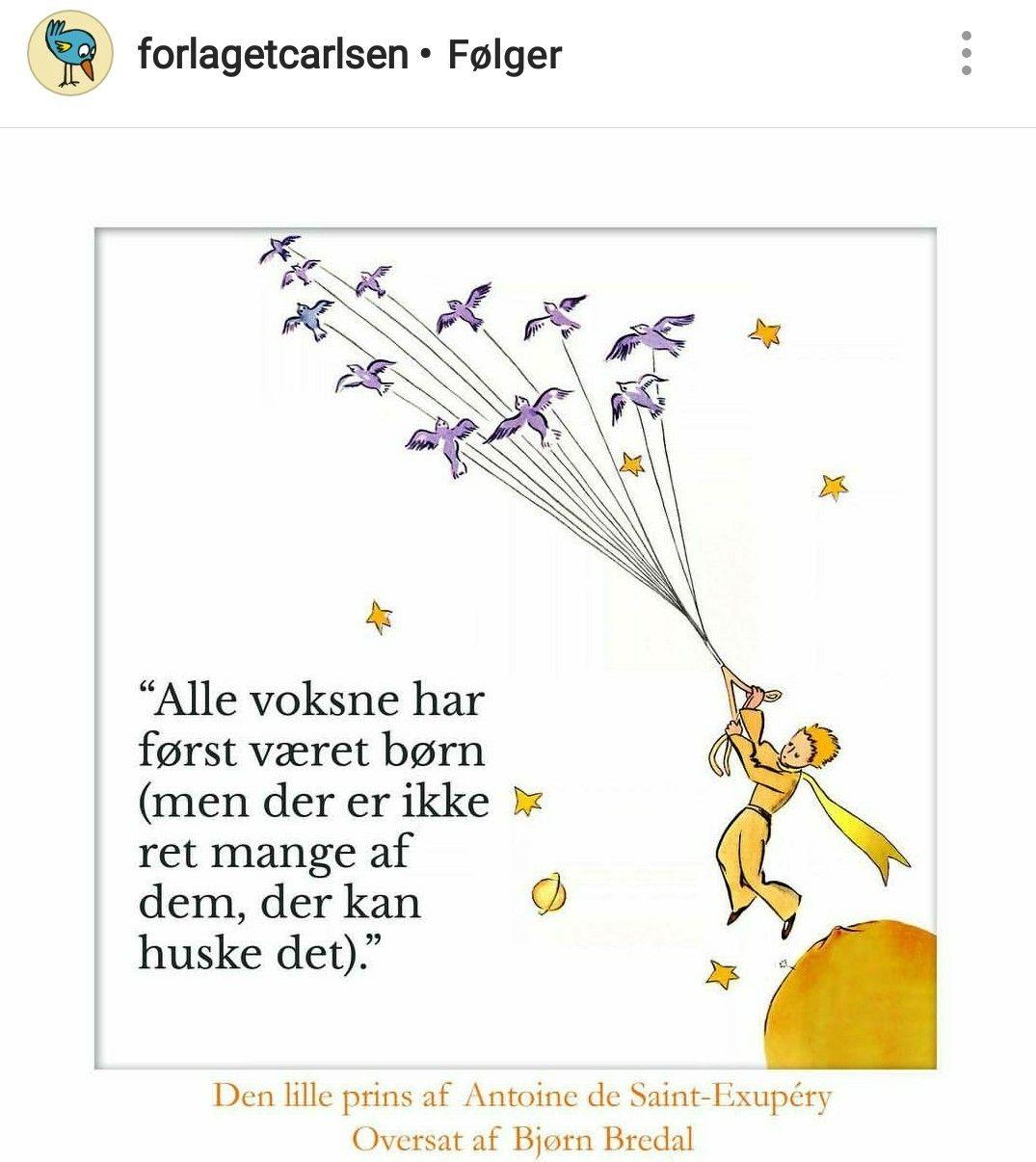citater fra den lille prins Den lille prins. Citat. Forlaget Carlsen | Le petit Prince  citater fra den lille prins