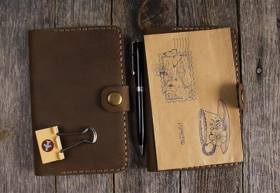 leather journal field notes