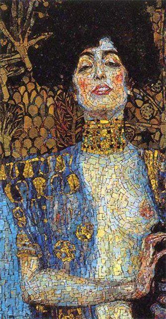 mosaic inspiration pinterest abstract portretten en schilderijen. Black Bedroom Furniture Sets. Home Design Ideas