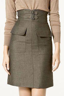 Best Bet: Zara's Slimming High-Waisted Skirt