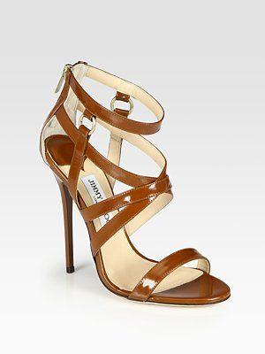 Jimmy Choo  Gael Strappy Leather Sandals