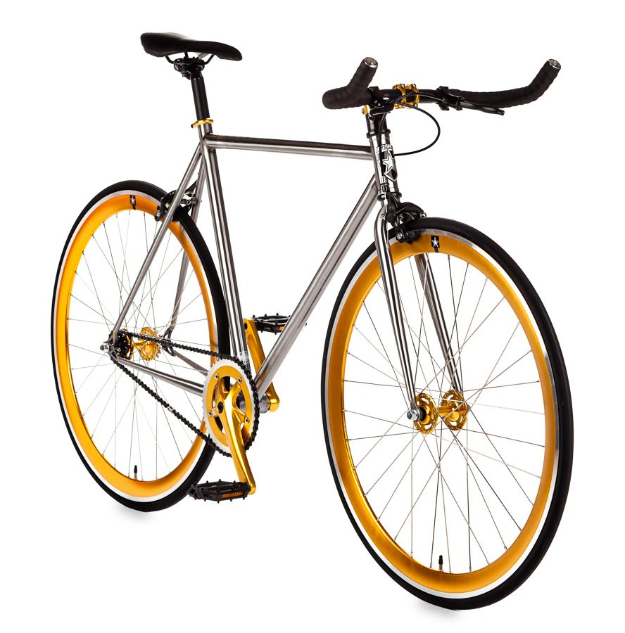 Streaker Fixie Raw Frame Single Speed Fixed Gear Bike