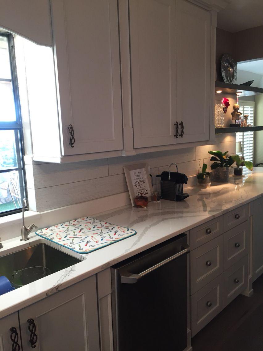 Custom Kitchen With Cambria Brittanicca Countertops Ann Sacks Yakisugi Shiro Field Tile And Madrona Brighton
