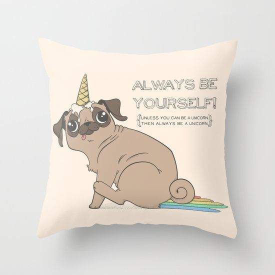 The Magical Pugicorn Throw Pillow Throw Pillows Pillows Sweet Home