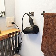 Kitchen/洗面所/タイル/無印良品 壁に付けられる家具/ドライヤー