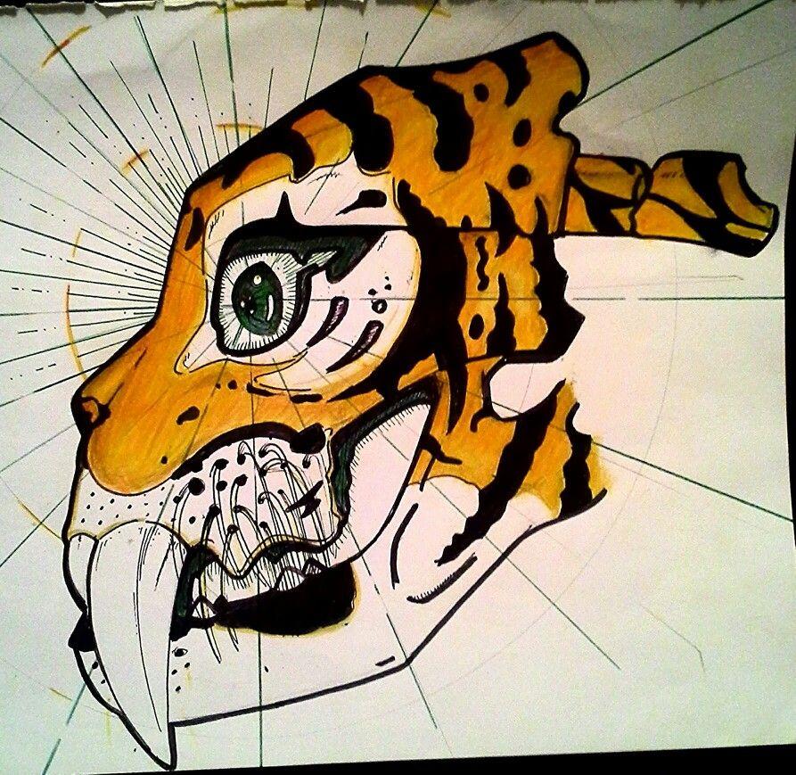 Oeil du tigre a dent de sabre my drawing drawings my drawings et character - Dessin de sabre ...