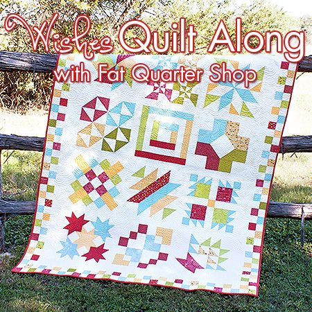 Wishes Quilt Along starting donations to Make-A-Wish Foundation. Find this at fatquartershop.com. Cute, looks easy (has instructional videos on YouTube) and a great charity.