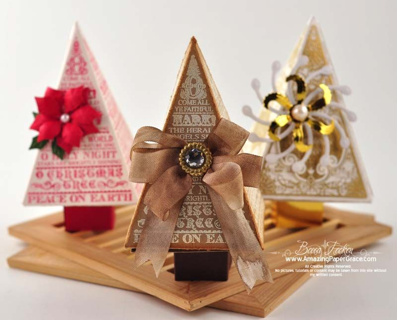 o christmas tree a justrite stampers a spellbinders a stamping a amazing paper grace