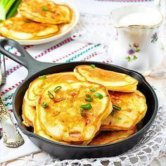 Low Carb Schinken-Käse-Pancakes - herzhaftes Pfannkuchen-Rezept