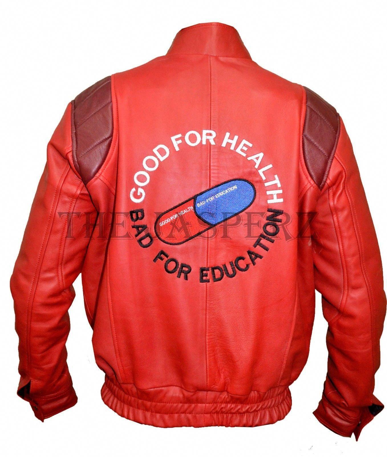 Akira Kaneda Red Leather Jacket Capsule And Text Mangakatsuhiro Otomo Costume Akira Leather Jacket Leather Jacket Men Long Sleeve Tshirt Men Leather Jacket [ 1599 x 1357 Pixel ]