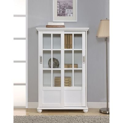 Fresh Bookcase with Sliding Glass Doors