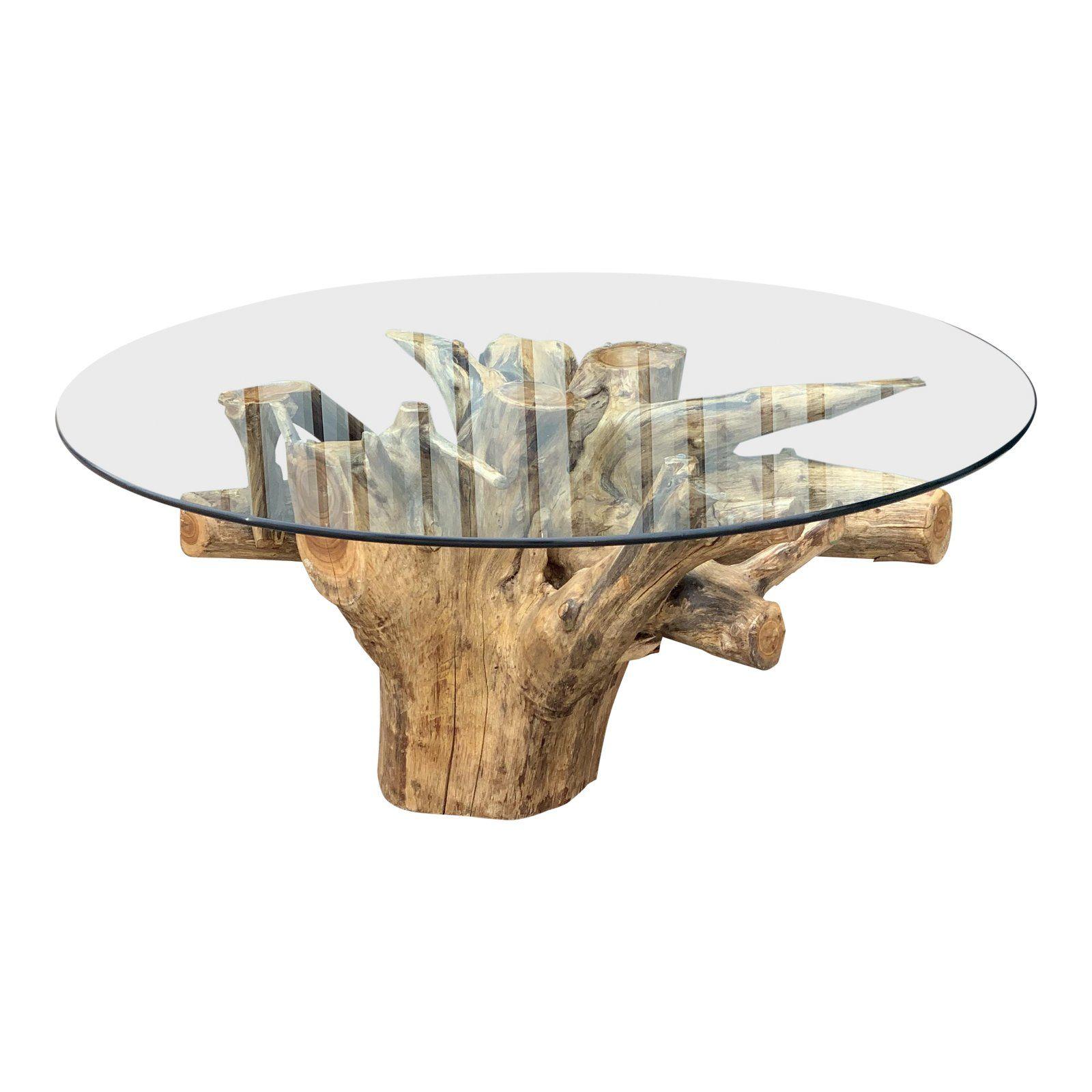 Vintage Free Form Live Edge Coffee Table Table Live Edge Table